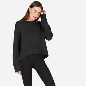 Everlane | Soft Cotton Square Crew, Black, L